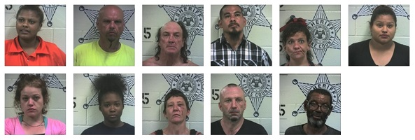 burglary, assault and other arrests in Leake County