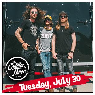 Cadillac Three Headlines Tuesday's NCF Entertainment